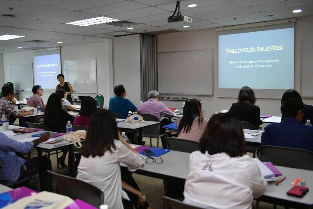 ST Masterclass teaches 50 professionals English skills